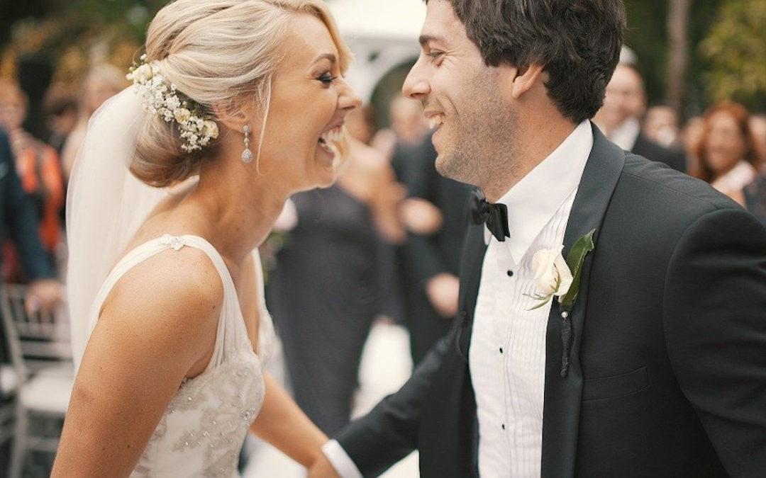 Brautpaar glücklich